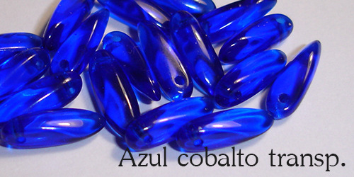 Azul cobalto transparente